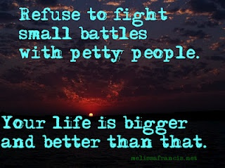 refuse to fight small battle