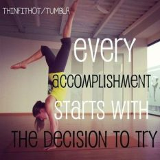 Every accomplishment