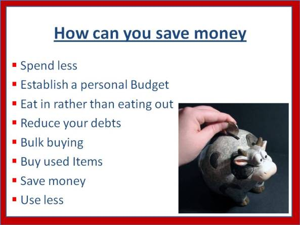 How can you save money